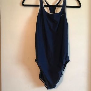 NIKE navy one piece athletic swimsuit